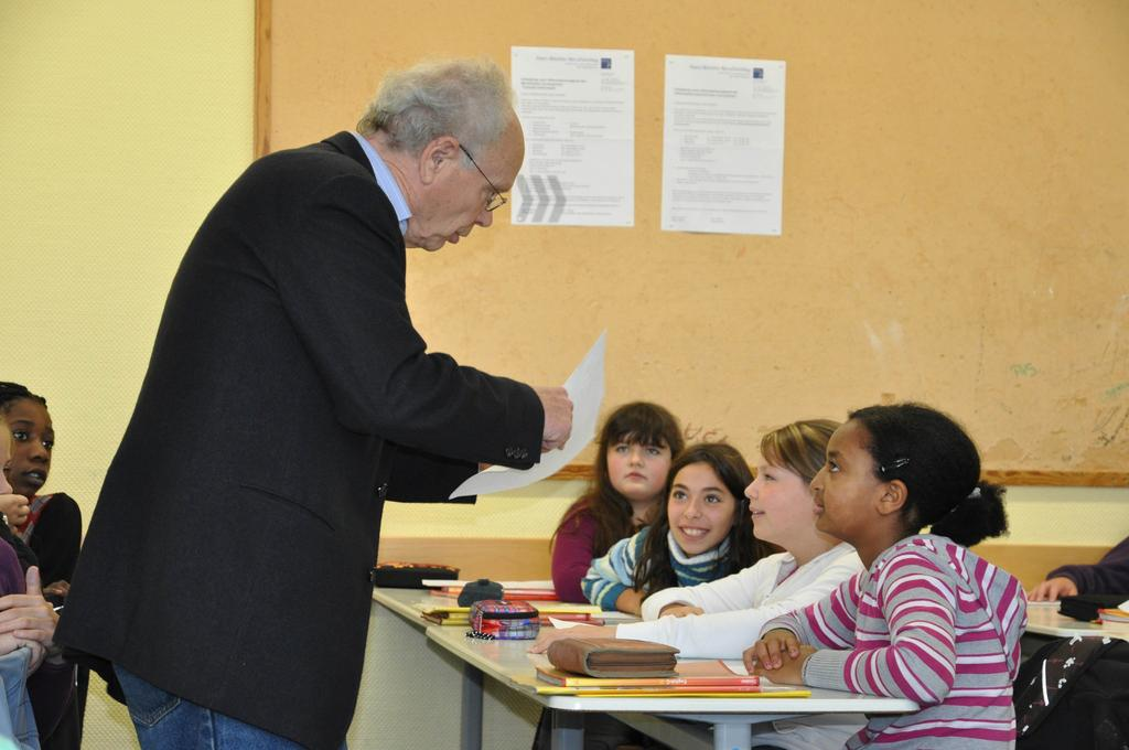 Prof. Dr. paed. Wolfgang Butzkamm an der Johannes-Gutenberg-Realschule in Hiltrup